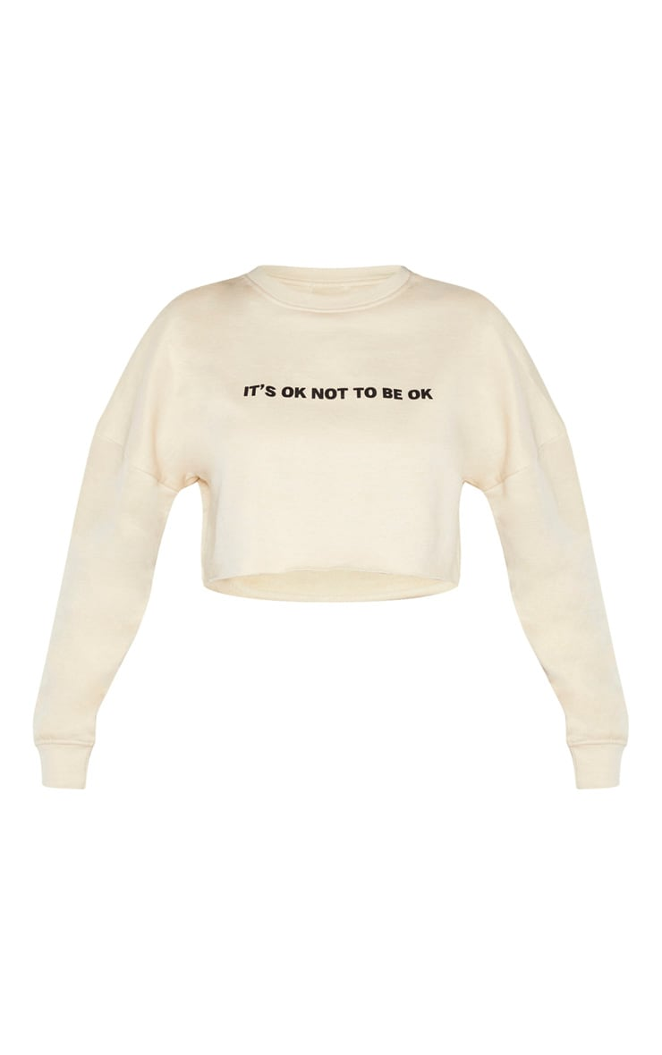 Sand Its Ok Slogan Crop Sweater 3