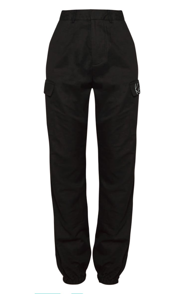 KARL KANI Black Cargo Pants 3
