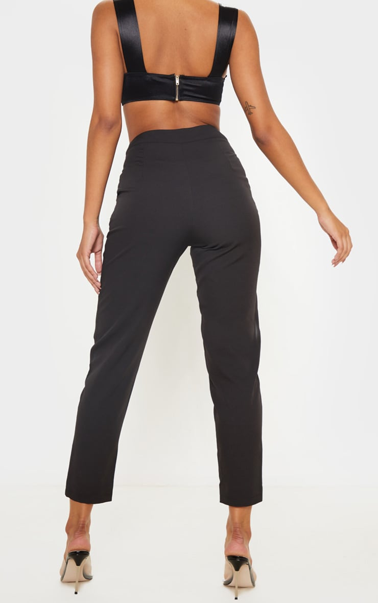 Black Cropped Trousers 4