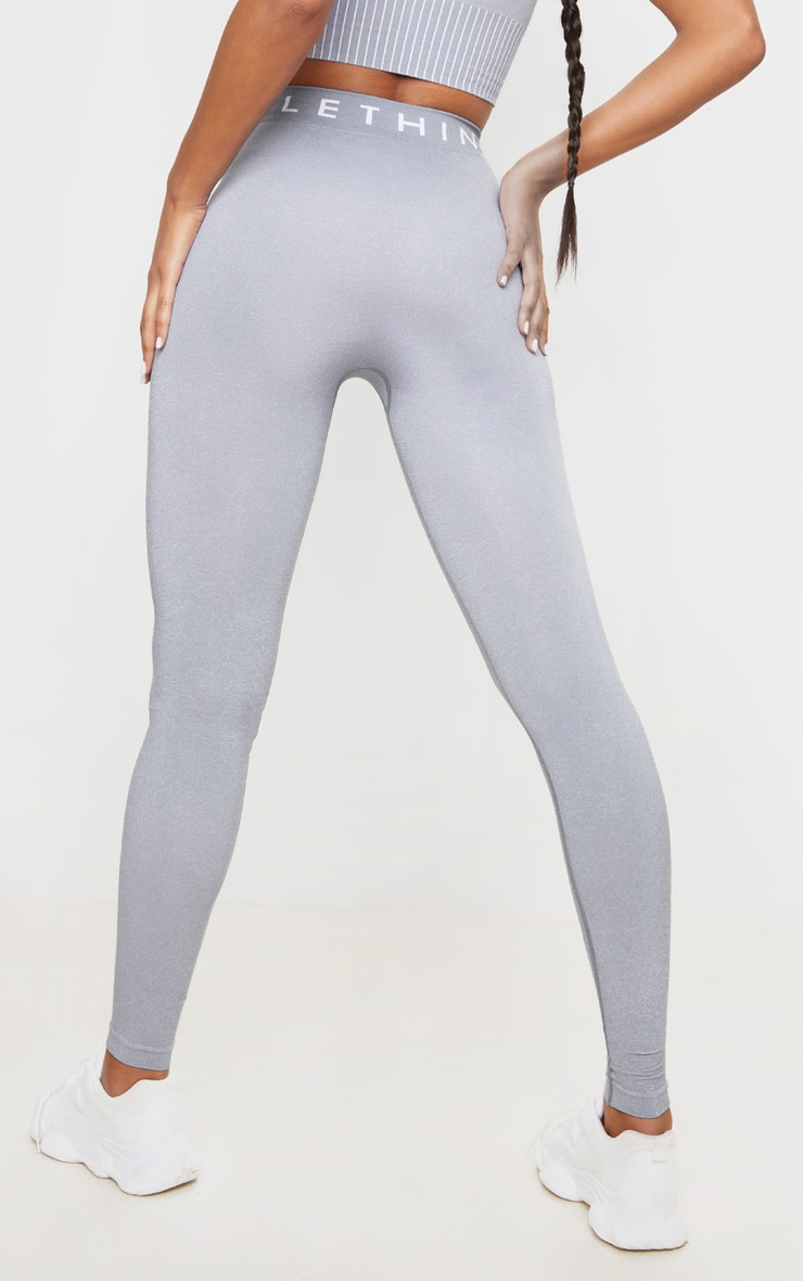 PRETTYLITTLETHING Grey Seamless Leggings 3