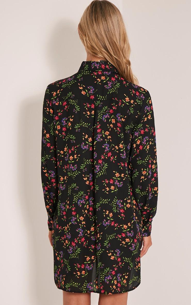 Tricia robe chemise vive imprimé à fleurs motif cachemire 2