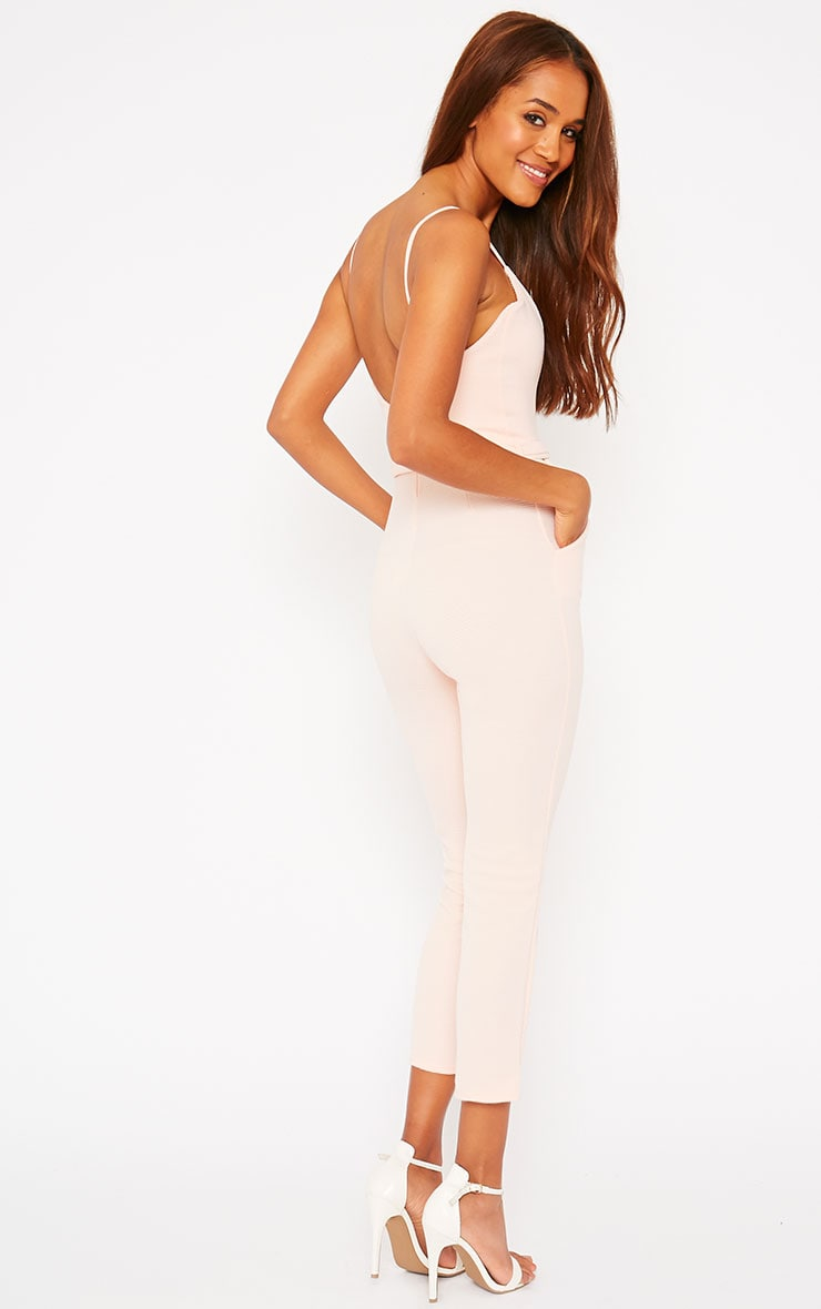 Zelda Nude D-Ring Belt Jumpsuit 4