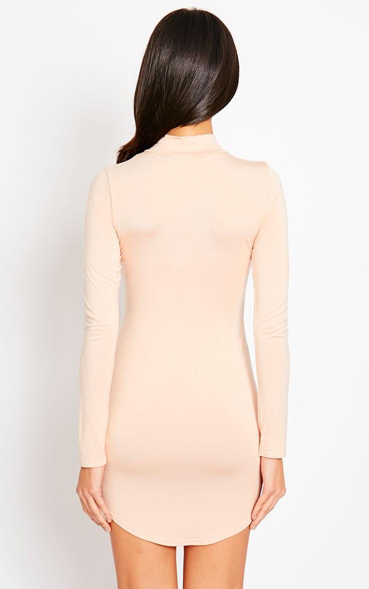 Alby Nude Curve Hem High Neck Dress 2