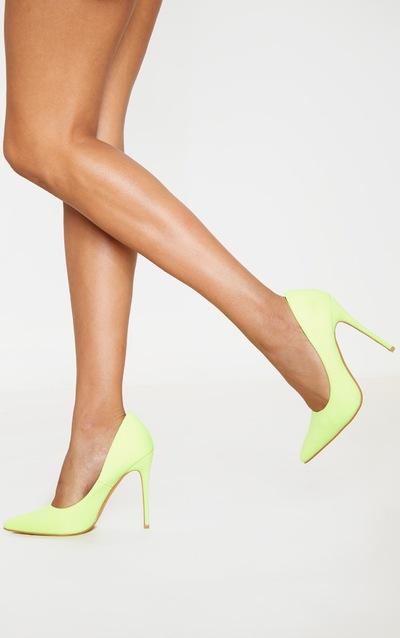 Neon Yellow Court Shoe