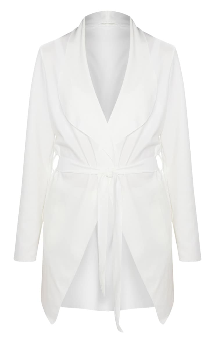 Lyla Cream Scuba Waterfall Jacket 3