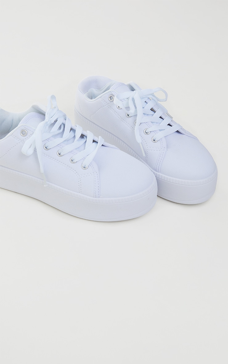 White PU Flatform Trainer 4