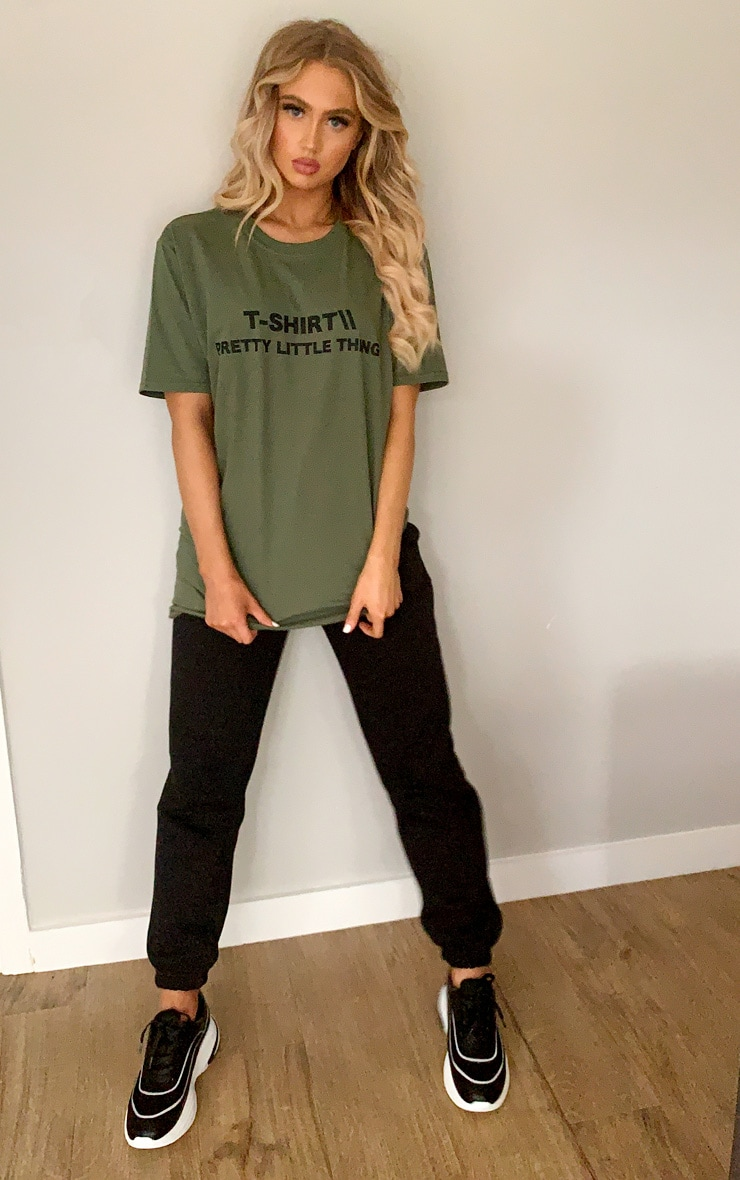 PRETTYLITTLETHING Khaki Official T Shirt 3