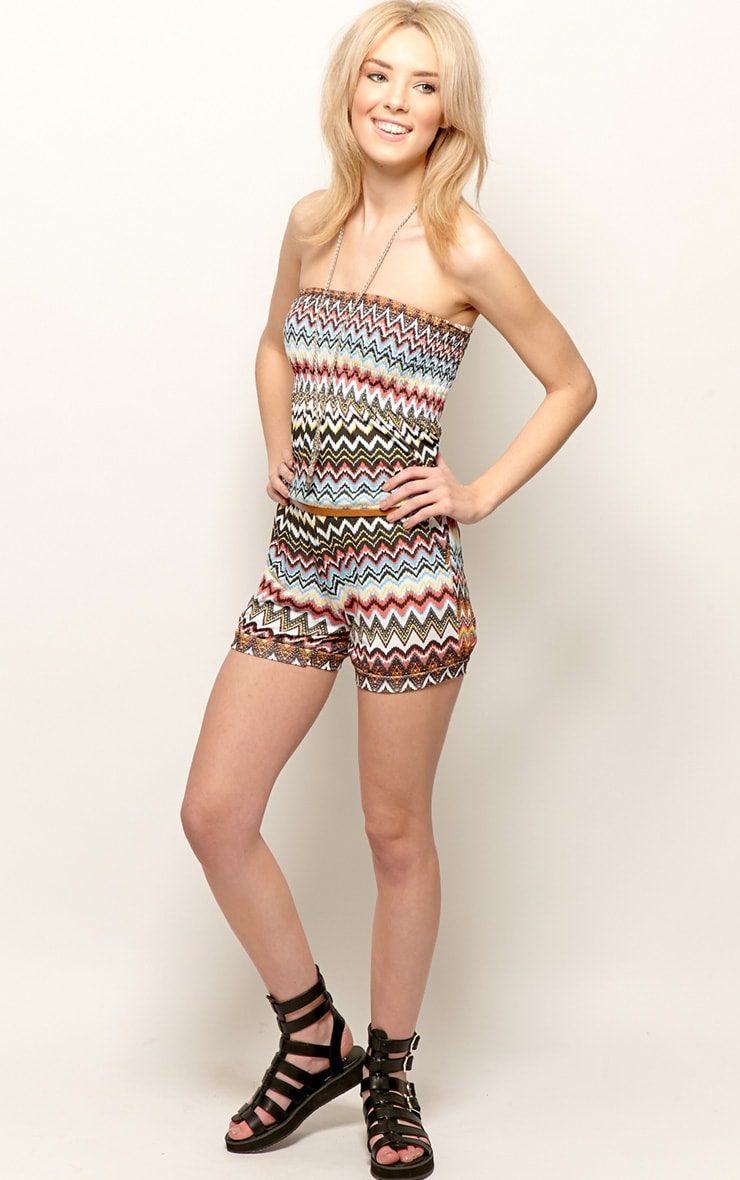 Callie Zig Zag Strapless Playsuit 3