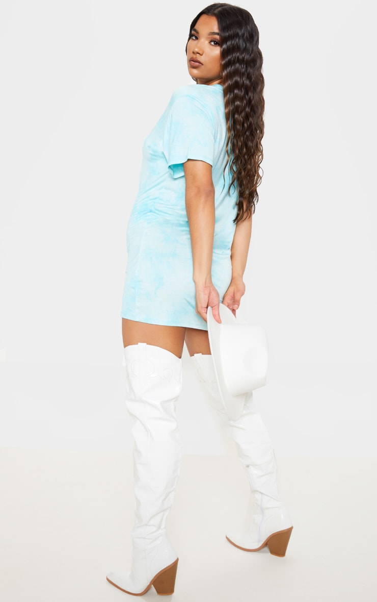 Blue Tie Dye T Shirt Dress 2