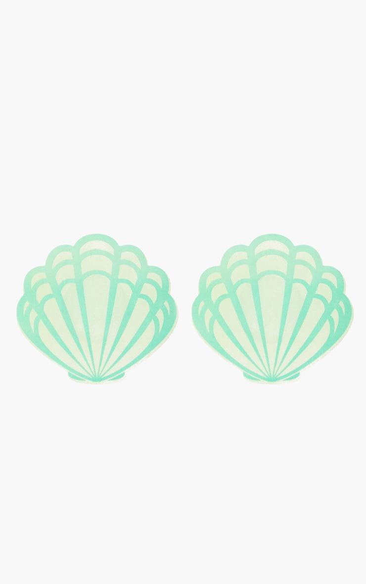 Green Shell Nipple Covers 3
