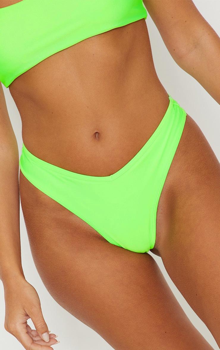 Lime Mix & Match V Front Brazilian Bikini Bottom 6