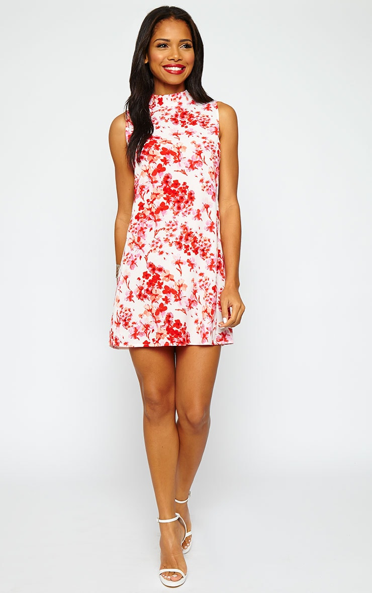 Rina Floral Cut Out Tabard Dress 3