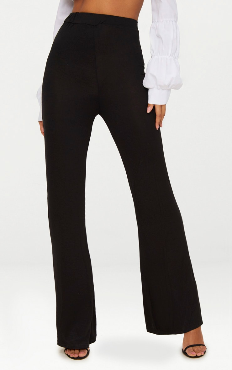 Basic pantalon ample en jersey noir 2