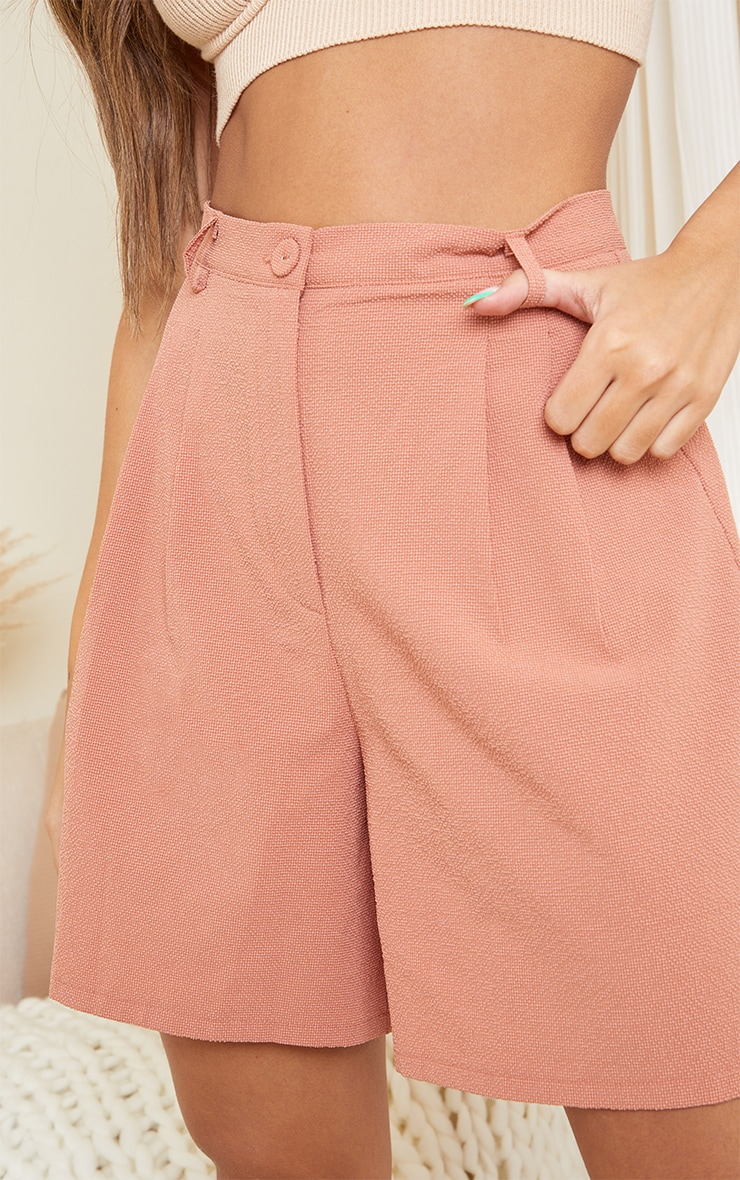 Clay Textured Woven Tailored Shorts 5