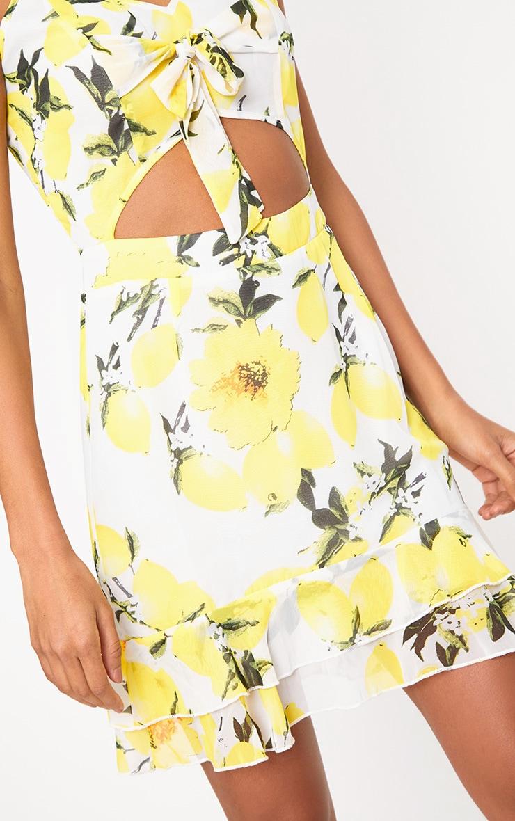 Lemon Printed Bodycon Dress 5
