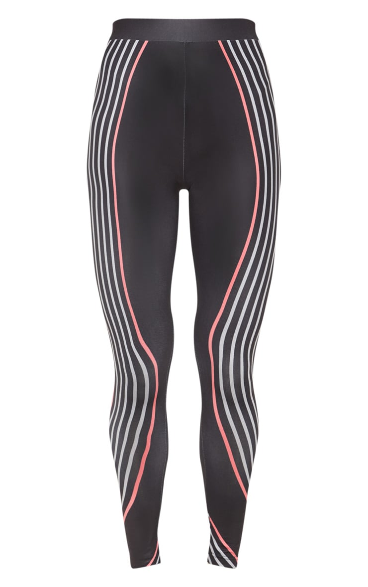 Black Illusion Stripe Legging 3