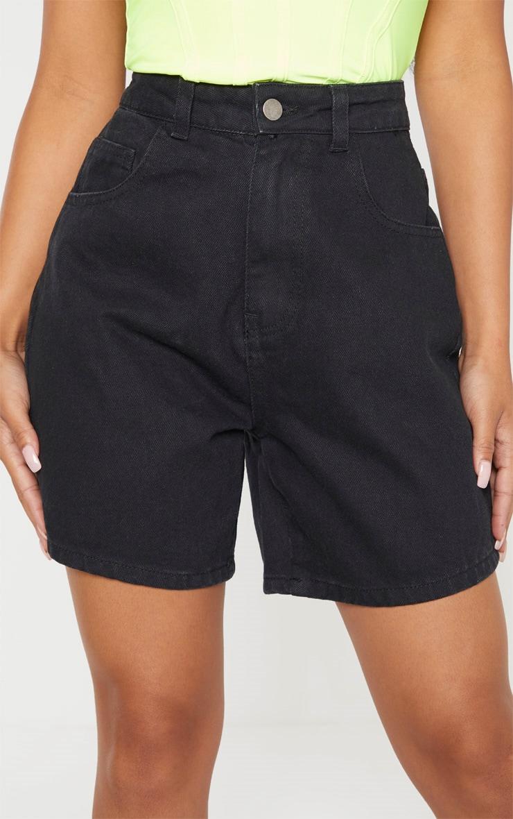 Petite Black Mom Denim Shorts 6