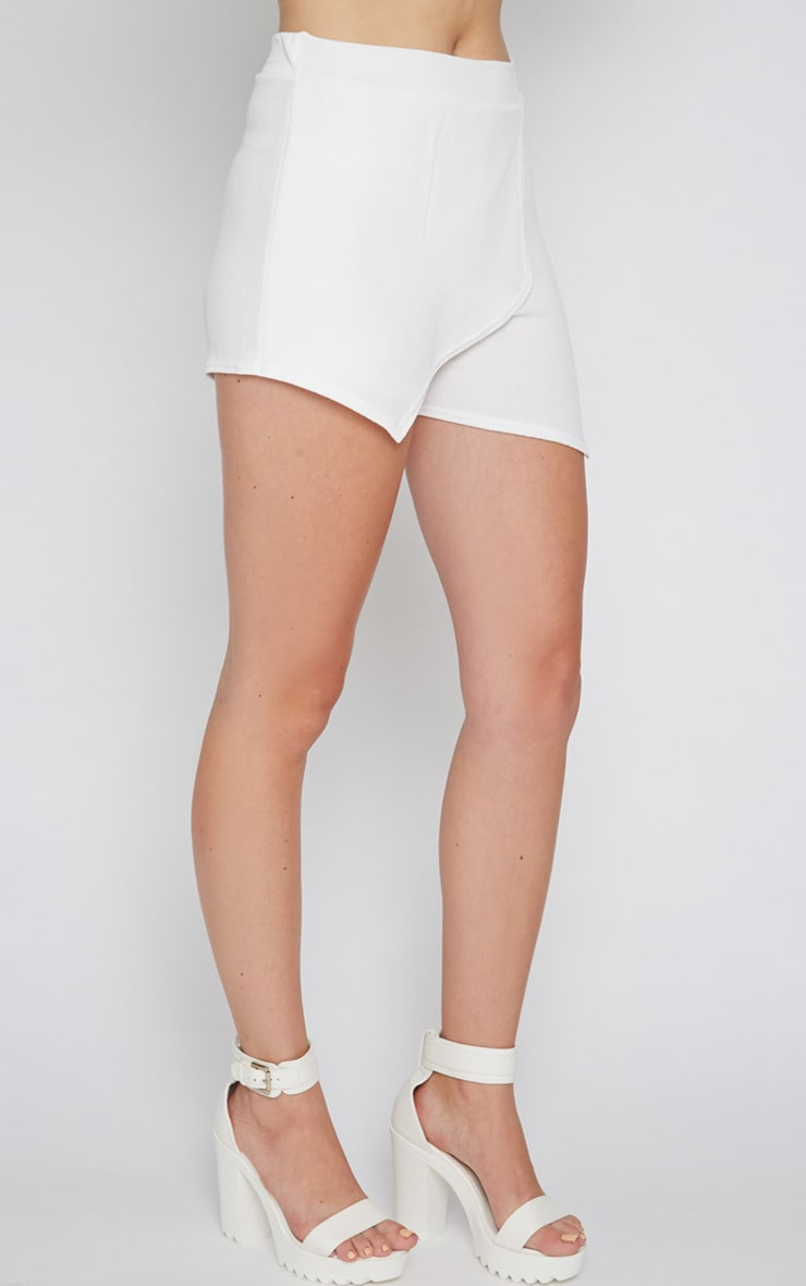 Isobel White Textured Skort  4