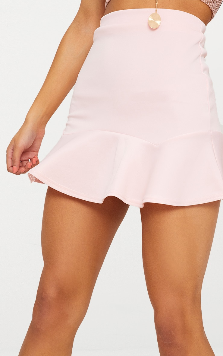 Pale Pink Flippy Hem Mini Skirt 6
