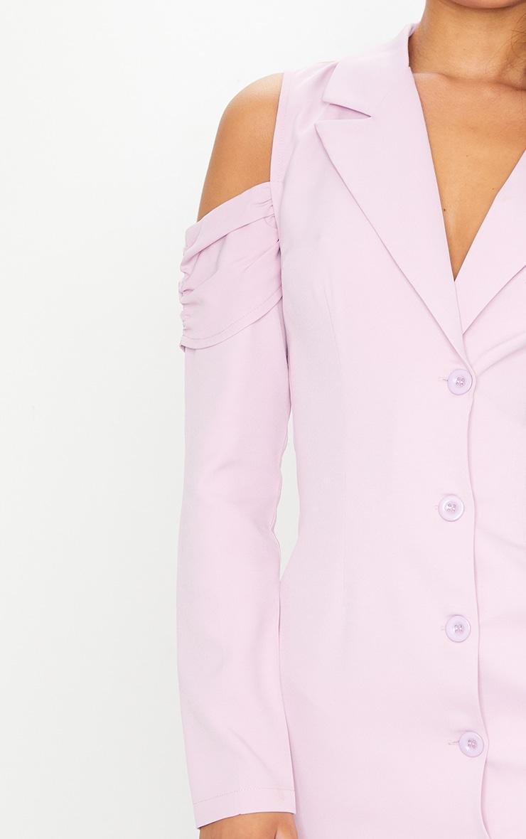 Lilac Cold Shoulder Detail Blazer Dress 4