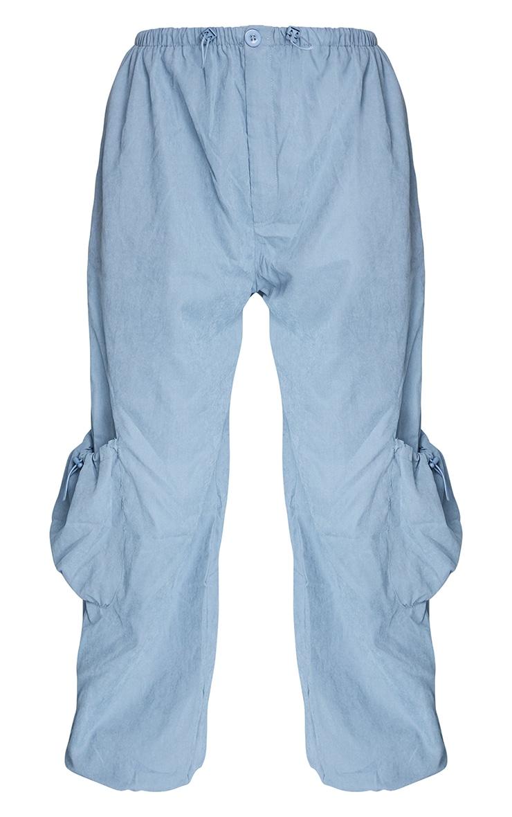 Ice Grey Peached Skin Toggle Pocket Joggers 5