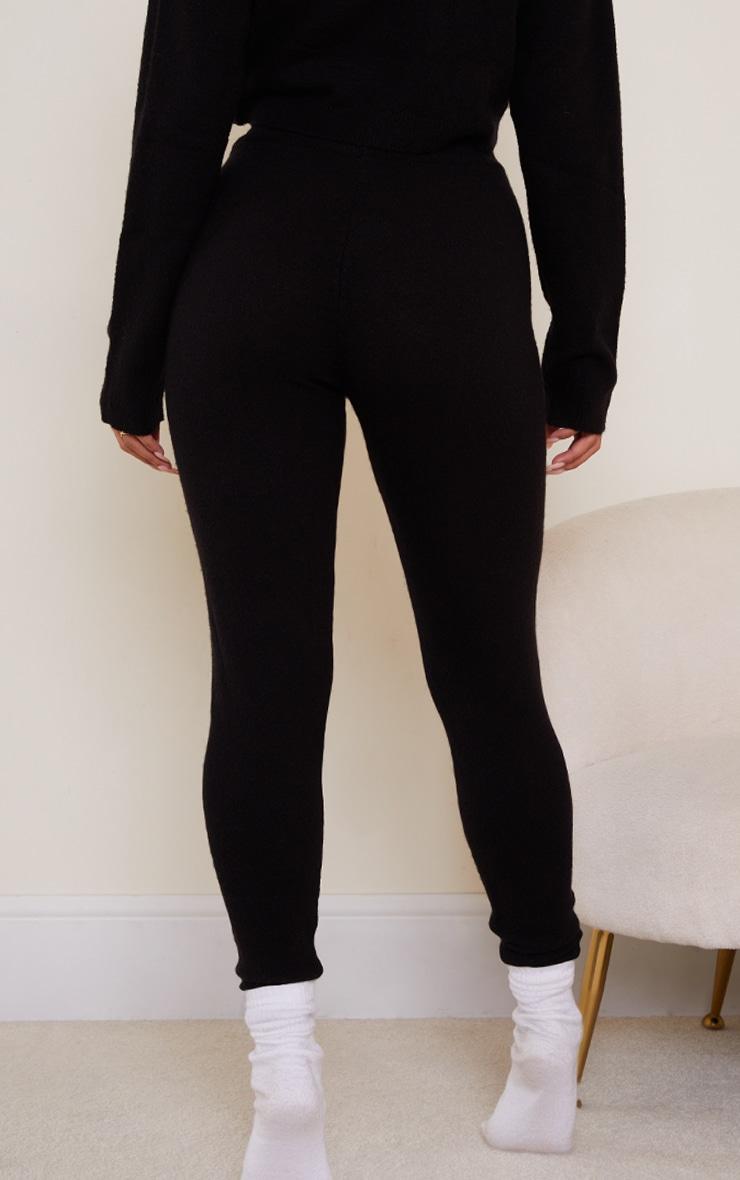 Black Soft Knit Joggers 3
