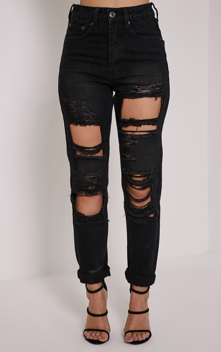 Marri Charcoal Extreme Ripped Jeans 2