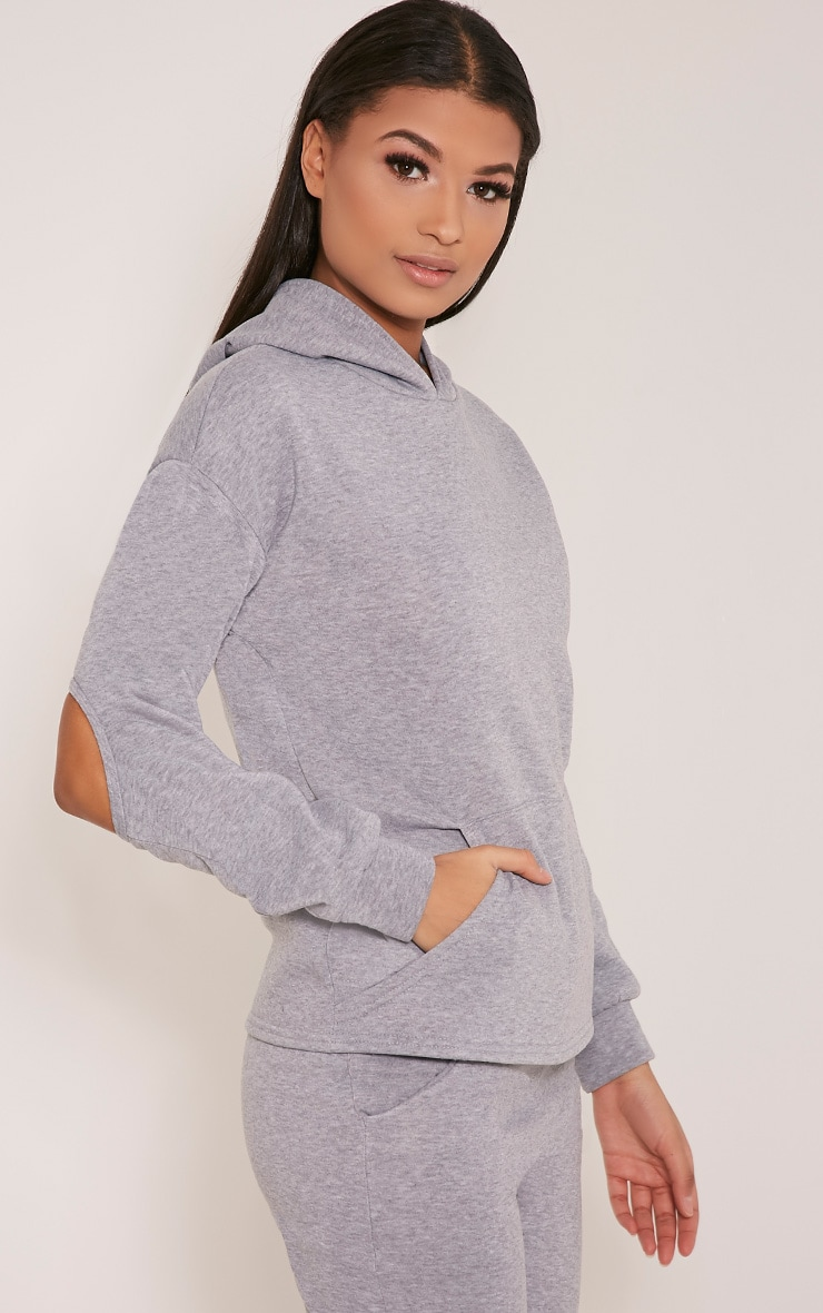 Dionne Grey Slit Elbow Sweater 3