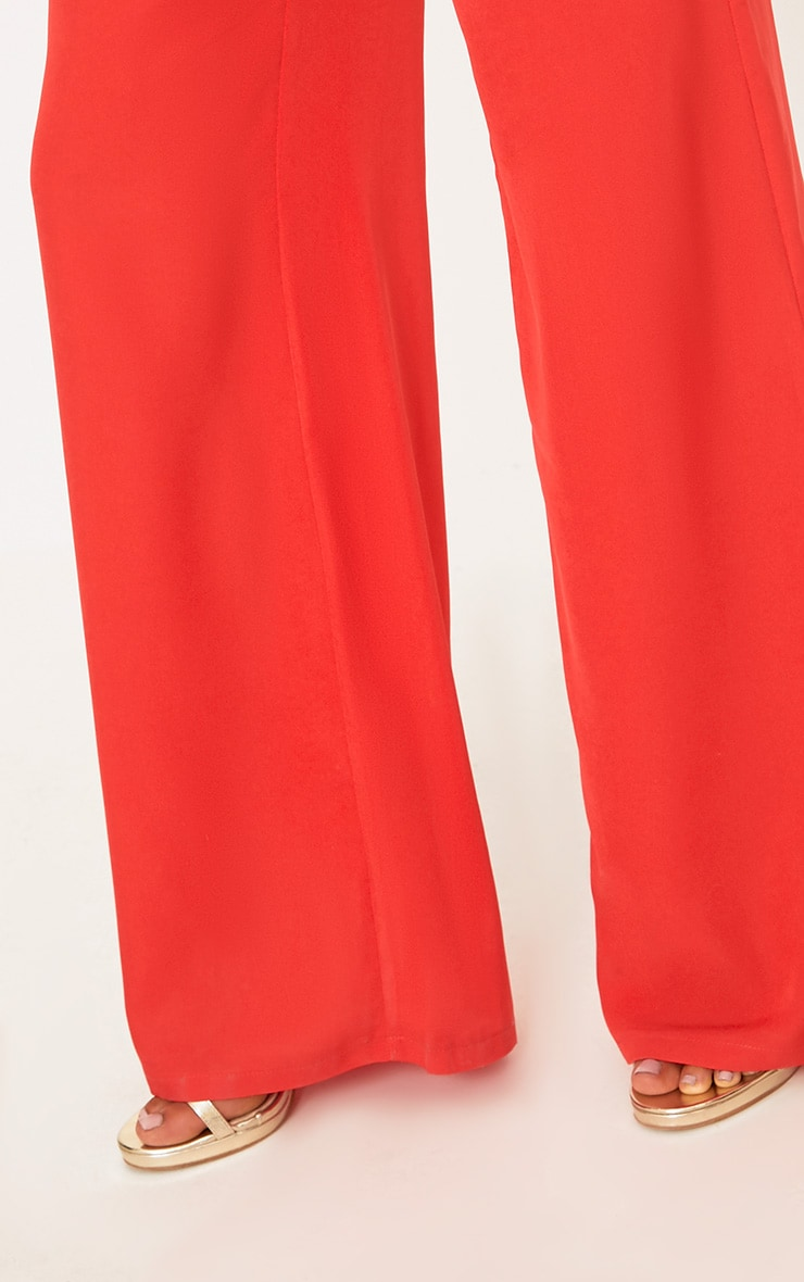 Red Wide Leg Suit Trousers 6