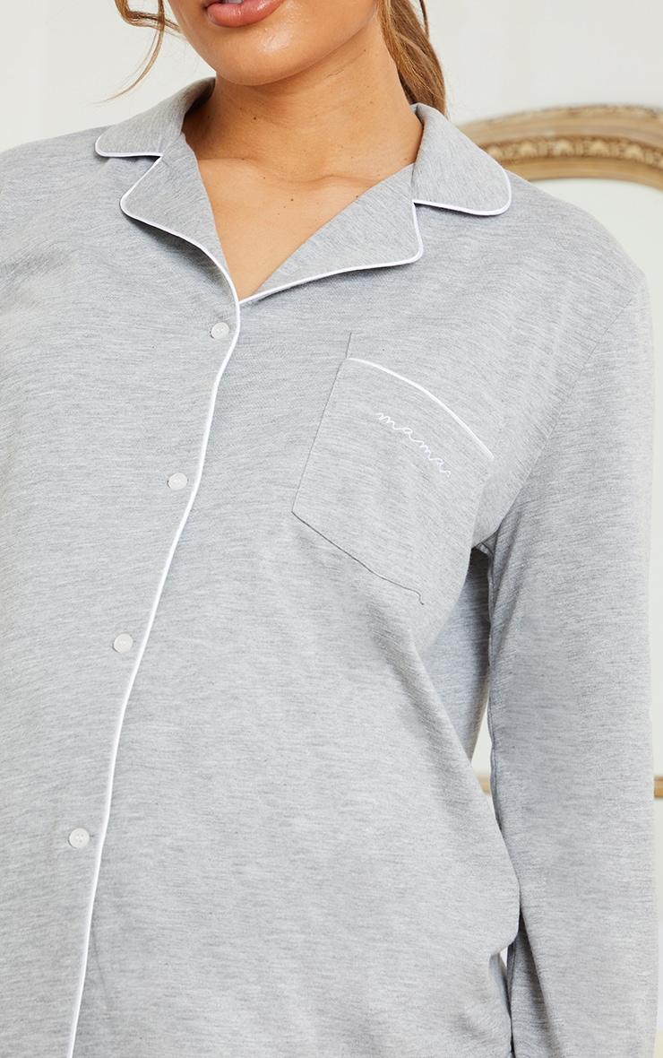 PLT Maternité - Haut de pyjama à manches longues gris imprimé Mama 4