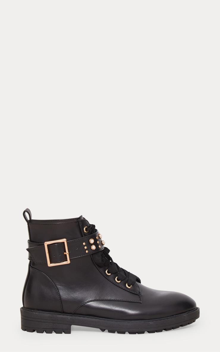 Black Studded Hiker Boot 4