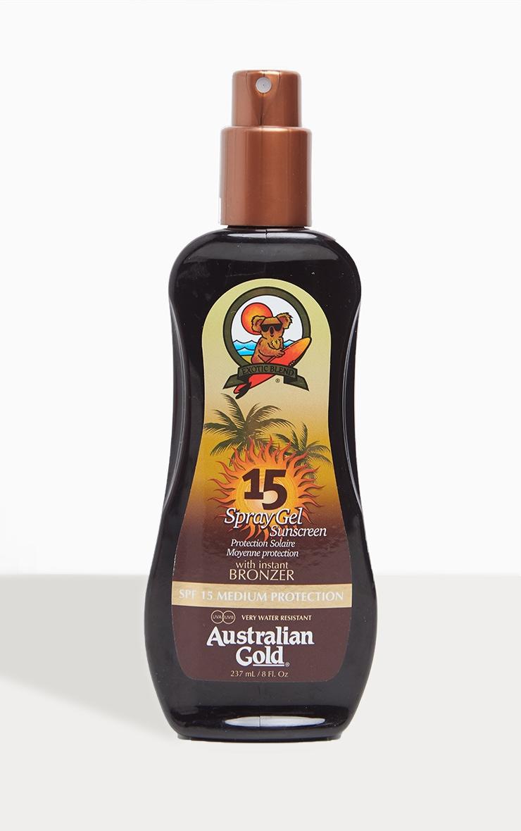 Australian Gold Spf 15 Spray Gel with Bronzer 1