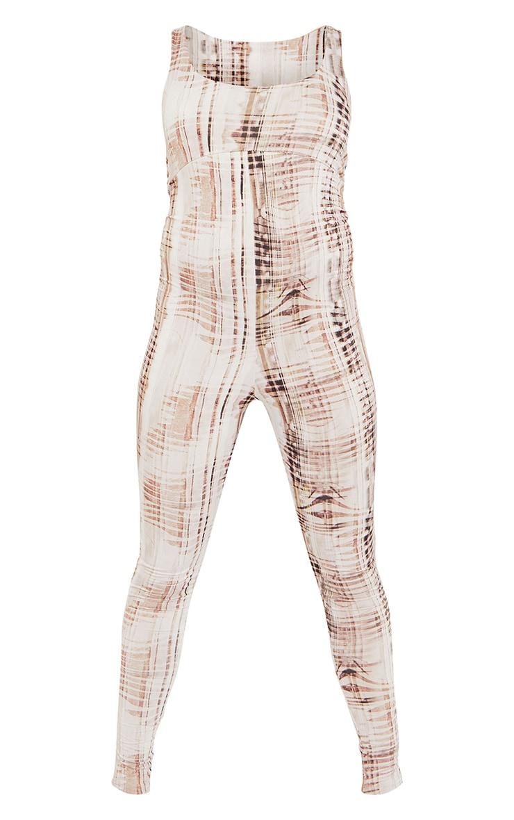 Maternity Stone Textured Print Slinky Jumpsuit 5