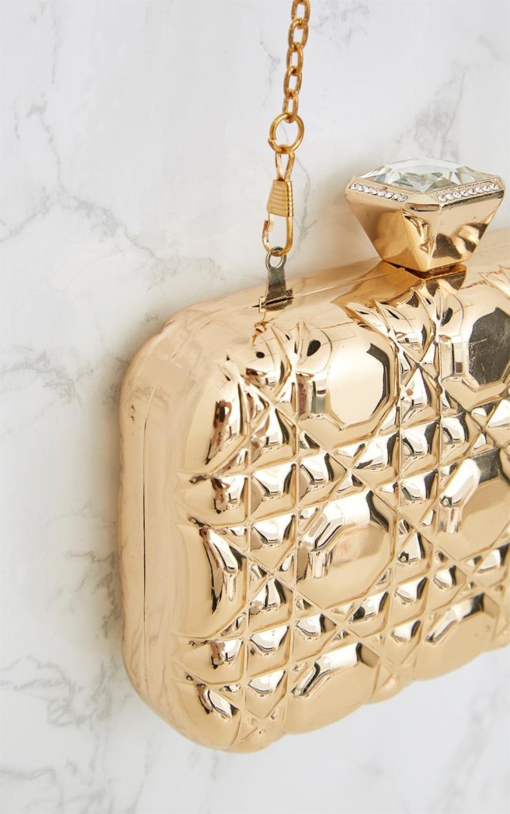 Gold Embellished Box Clutch 5