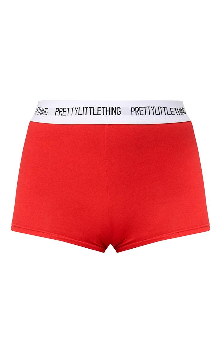 PRETTYLITTLETHING Red Shorts 3