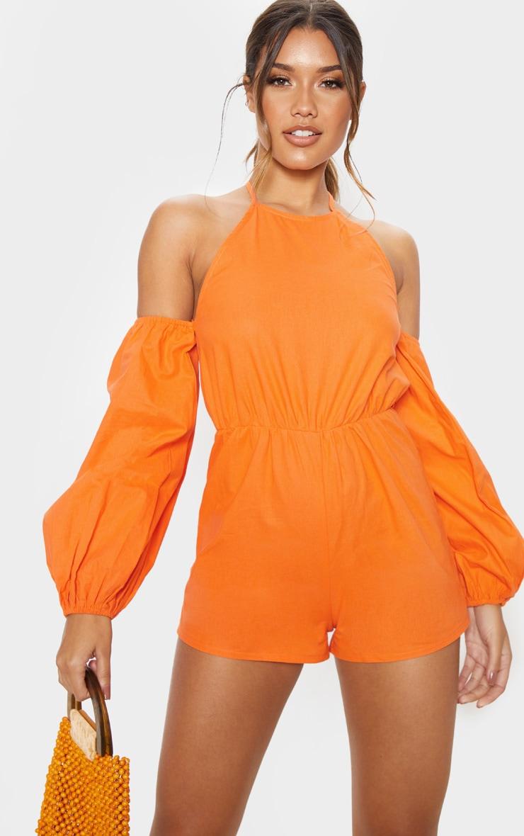 Orange Halterneck Romper 2