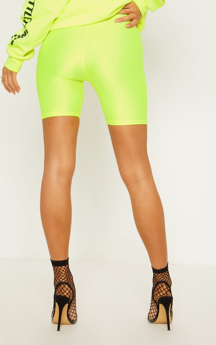 Yellow Neon Cycling Shorts 5