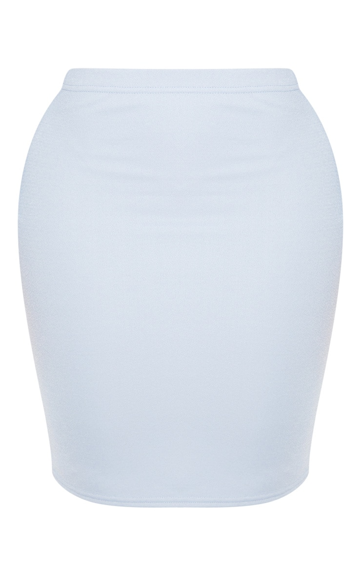 Shape - Jupe moulante taille haute bleu cendré 3