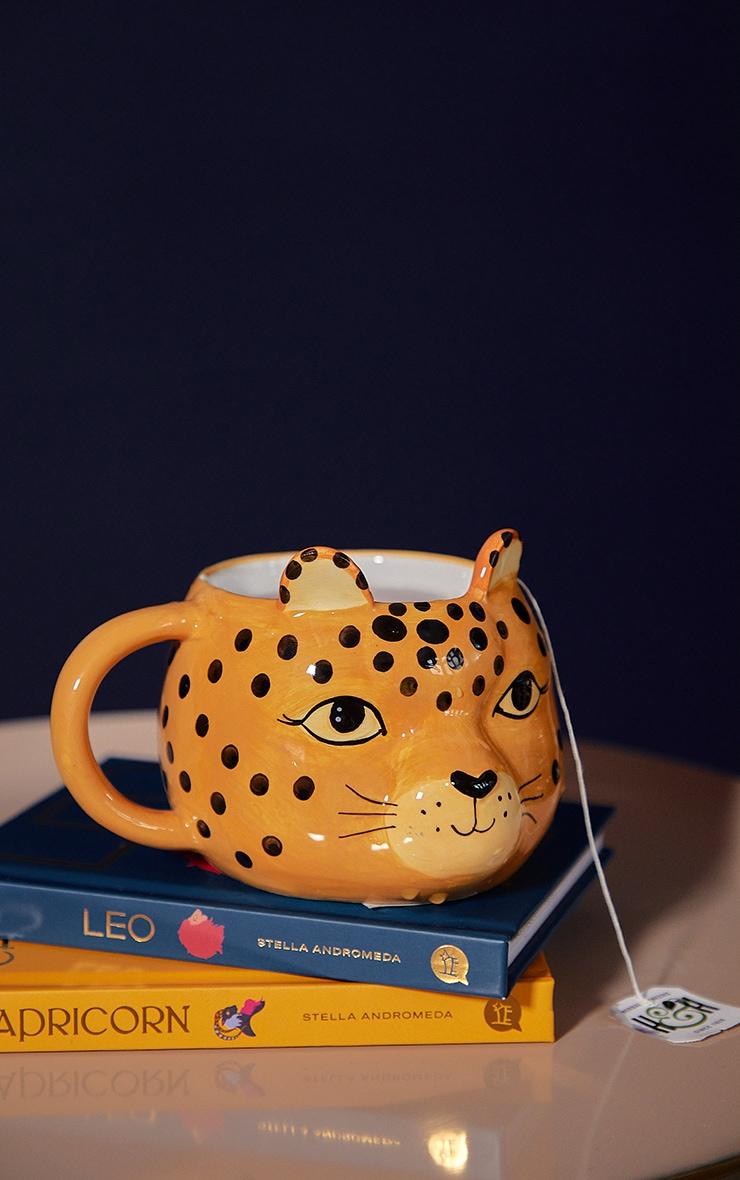 Leopard Love Shaped Mug 1