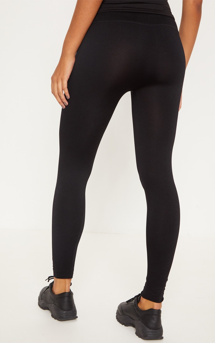 Black Tie Waist Seamless Legging 4