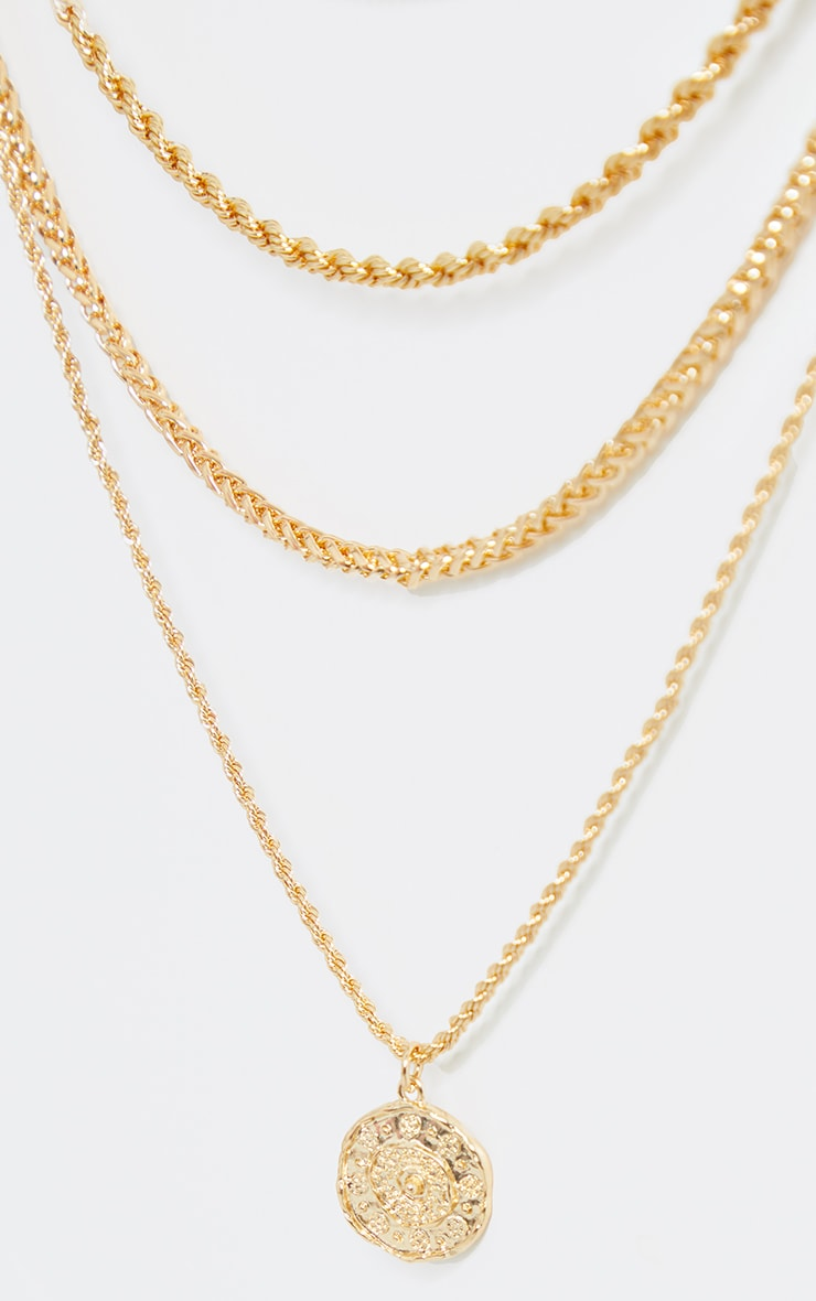 Gold Assorted Layering Chains Necklace 4