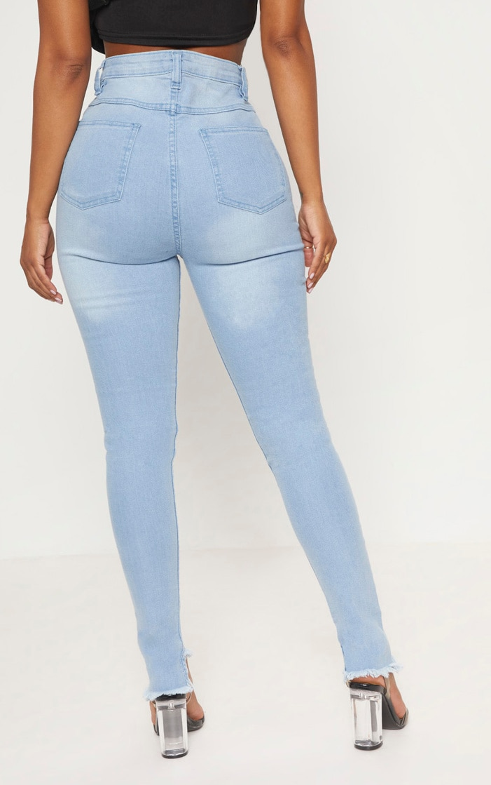 Shape Light Wash High Waist Skinny Jeans 5