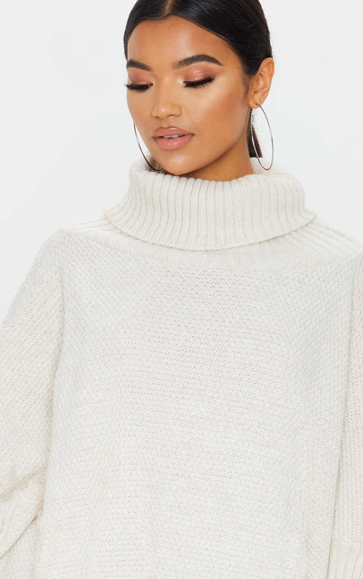 Oatmeal Oversized Slouchy Knitted Sweater 5