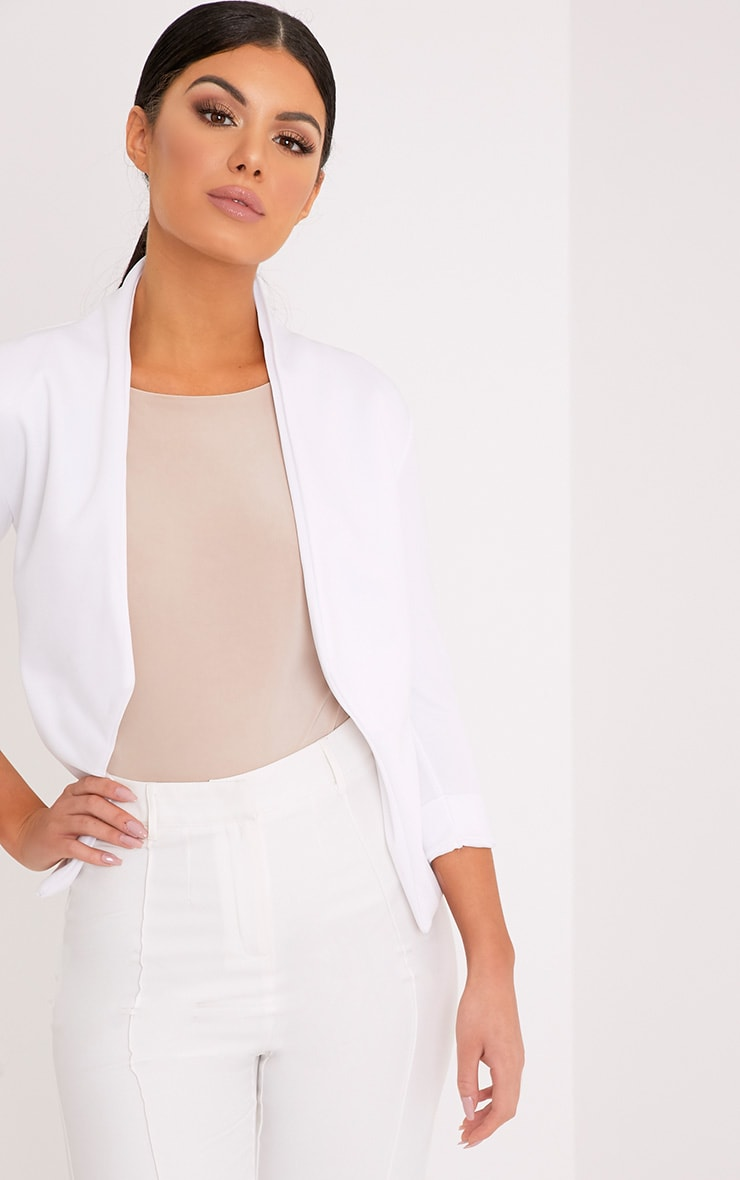 Dawn White Scuba Blazer 1