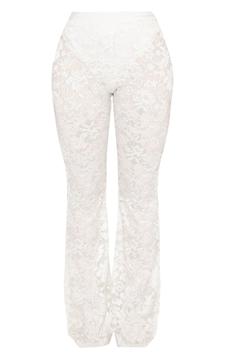 Shape White Lace Flare Trouser  3