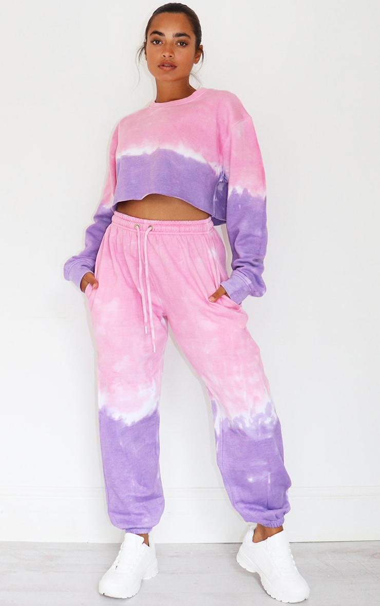 Petite Pink/Purple Ombre Cropped Sweater 3