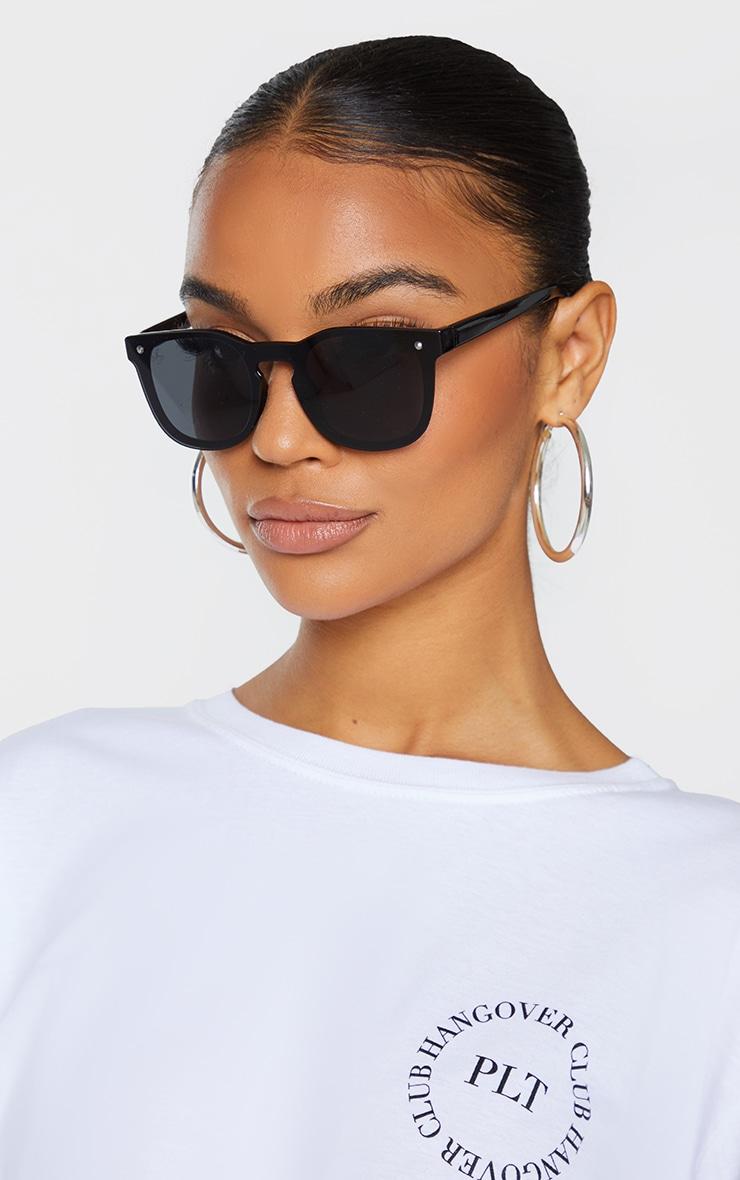 Jeepers Peepers Black Retro Sunglasses 1