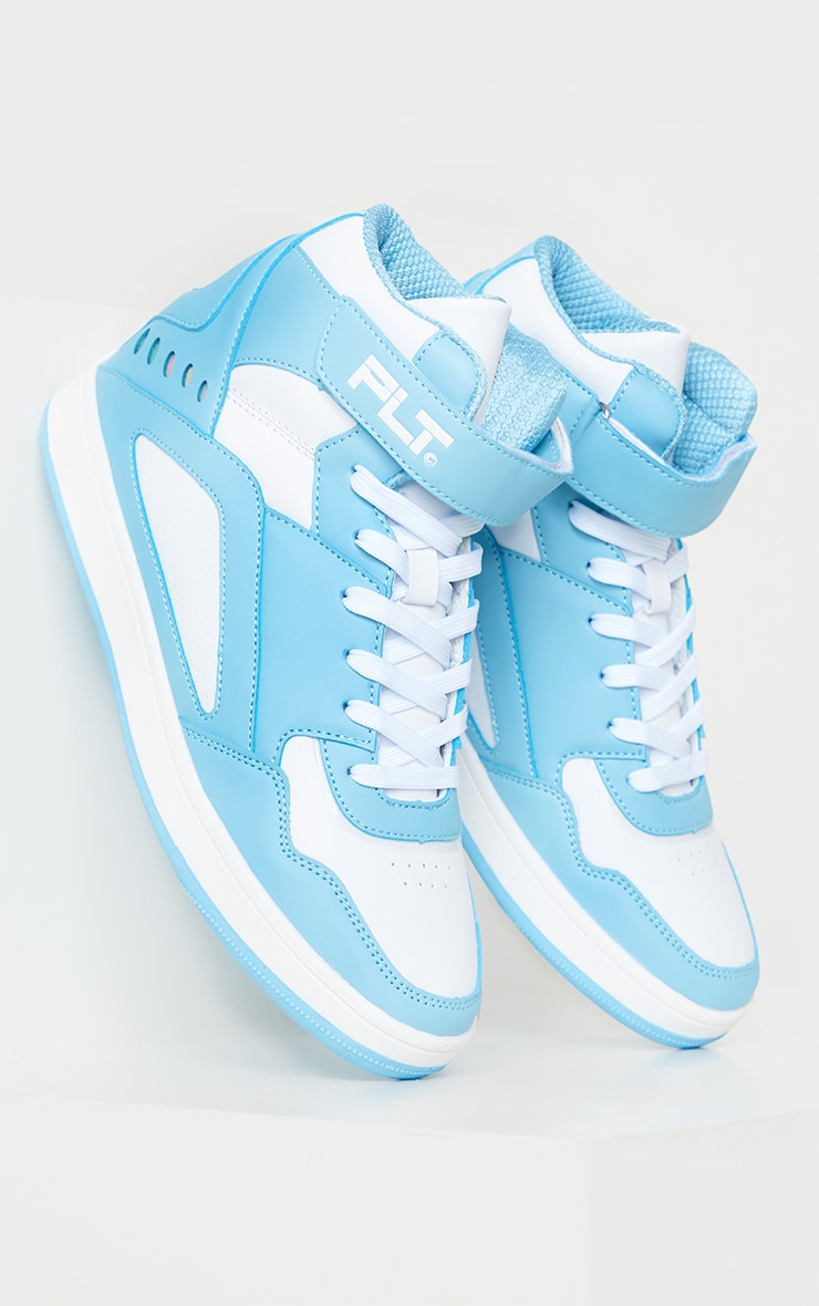PRETTYLITTLETHING Mint Strap High Top Trainers 2