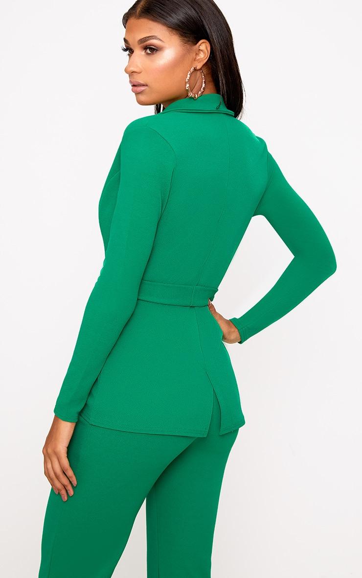 Green Belted Blazer 2