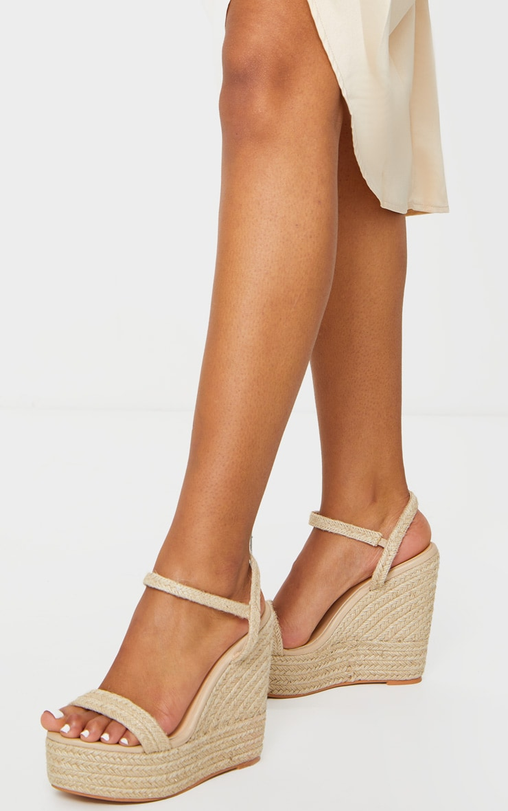 Natural Espadrille Wedges 1